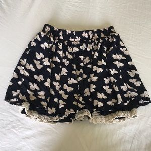 Pants - ⭐️ BOGO FREE Bow Navy Shorts with Lace Detail ⭐️